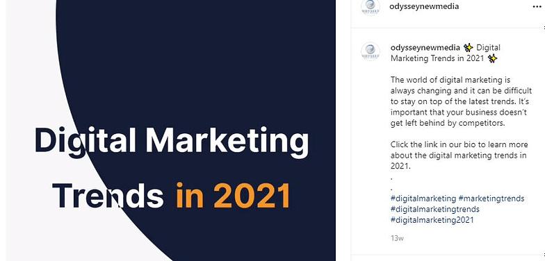 Banner showing Odyssey Instagram Post